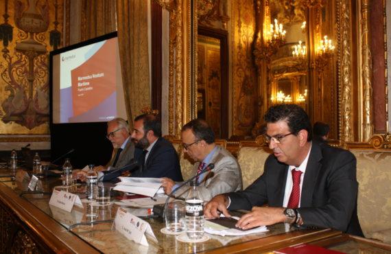 José Mª Salt presenta Marmedsa Noatum Castellón en una conferencia de la Cámara de Comercio de Madrid en el Puerto de Castellón
